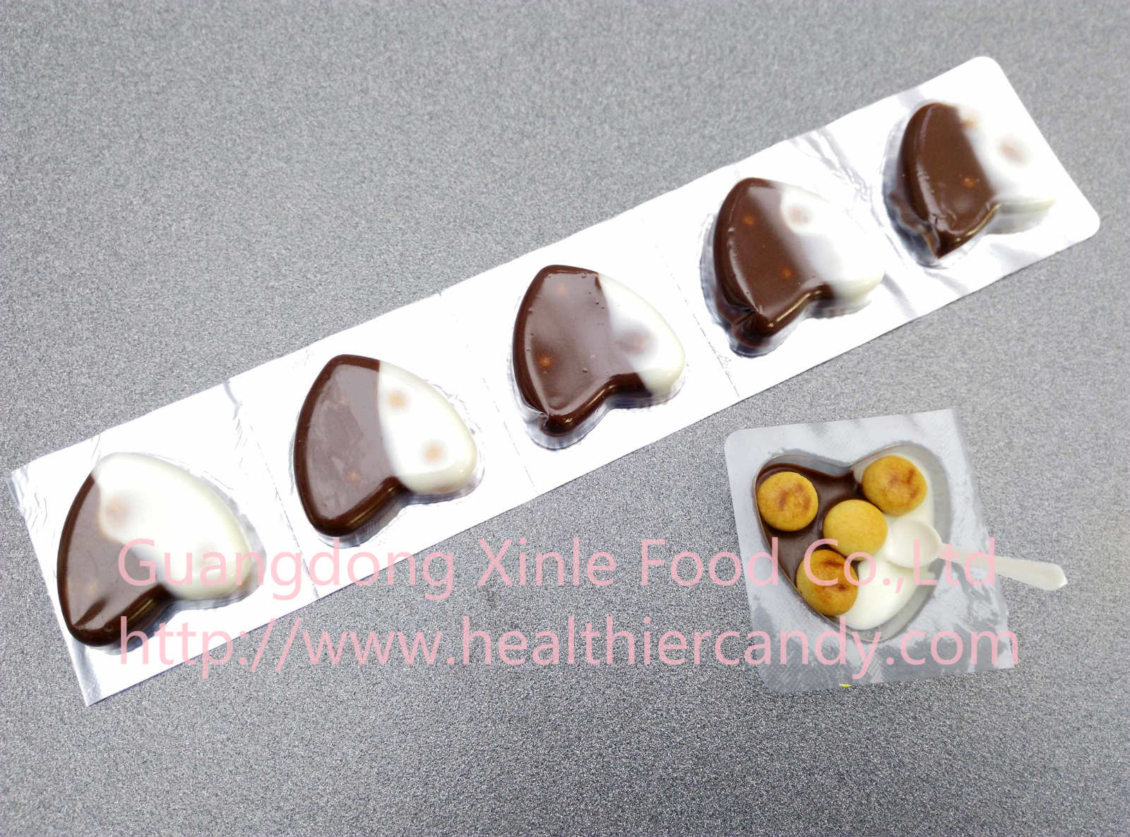 Hot Sale Heart Shape Choclate Taste Sweet and Delicious Promotional and Welcomed Snack