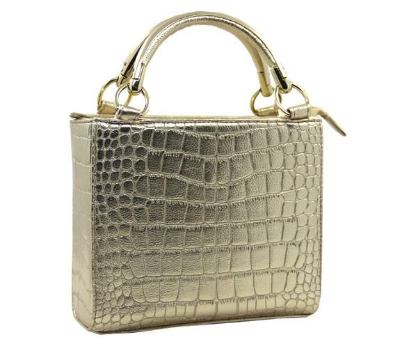 fashional crocodile pu leather ladies' handbag