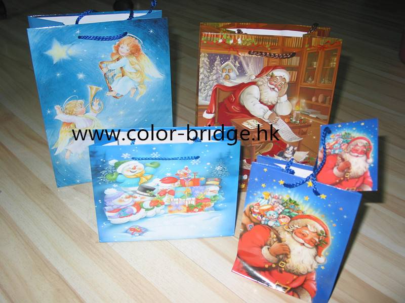 Customizing Christmas Gift Paper Bag Shopping Paper Bag