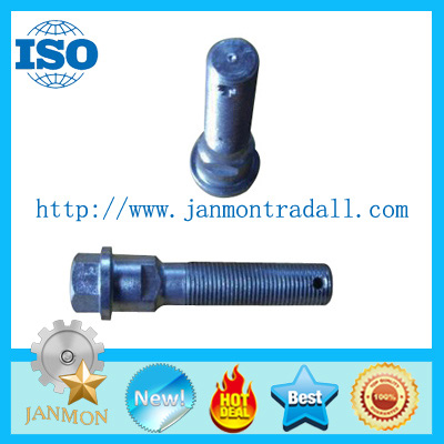 Customized High Strength Hex Bolts For Tractor,Grade 10.9 white blue zinc hex flange bolt with hole