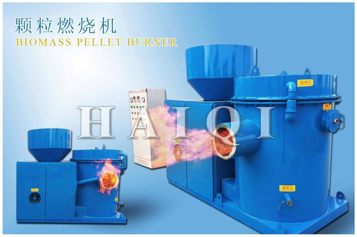 Bagasse pellet biomass burner connect with gas boiler, steam boiler
