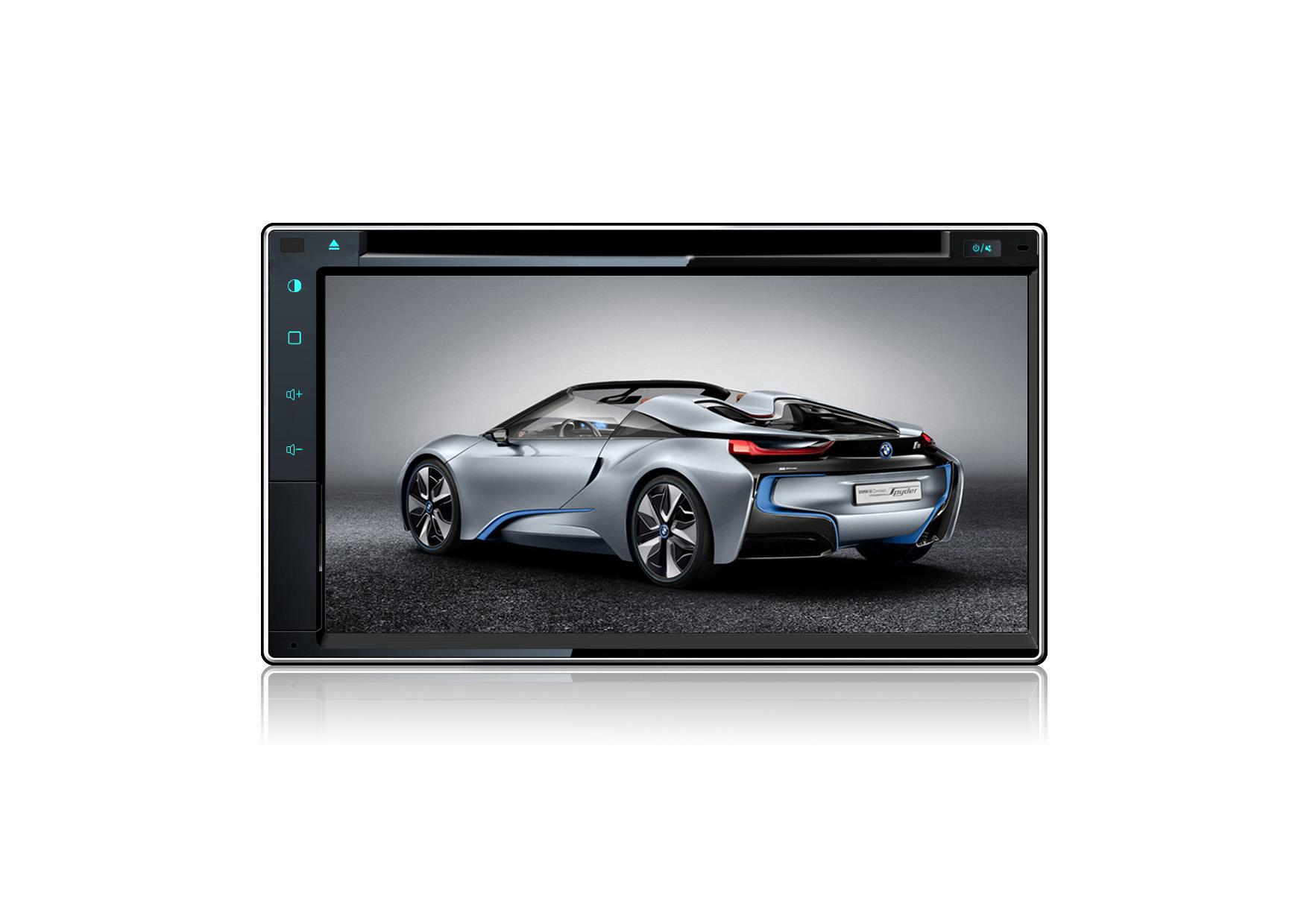6.95-inch Toyota Universal Double Din DVD,car navigation/TV/BT/USB/SD/MP4/FM/AM