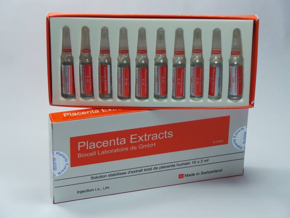 BIOCELL PLACENTA EXTRACTS, KOREAN MYM STEM CELLS, D+CELL 350, HORSEMAN HUMAN PLACENTA