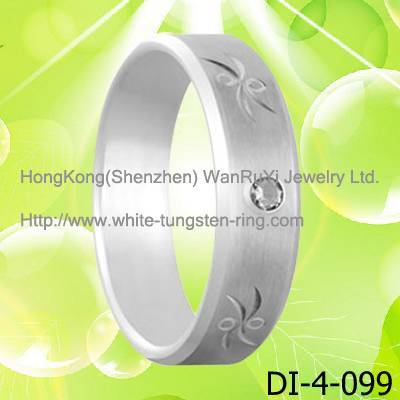 Heavy Durability Tungsten Steel Ring for Girl