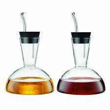 Pyrex glass oil and vinegar bottle/glass kitchen ware