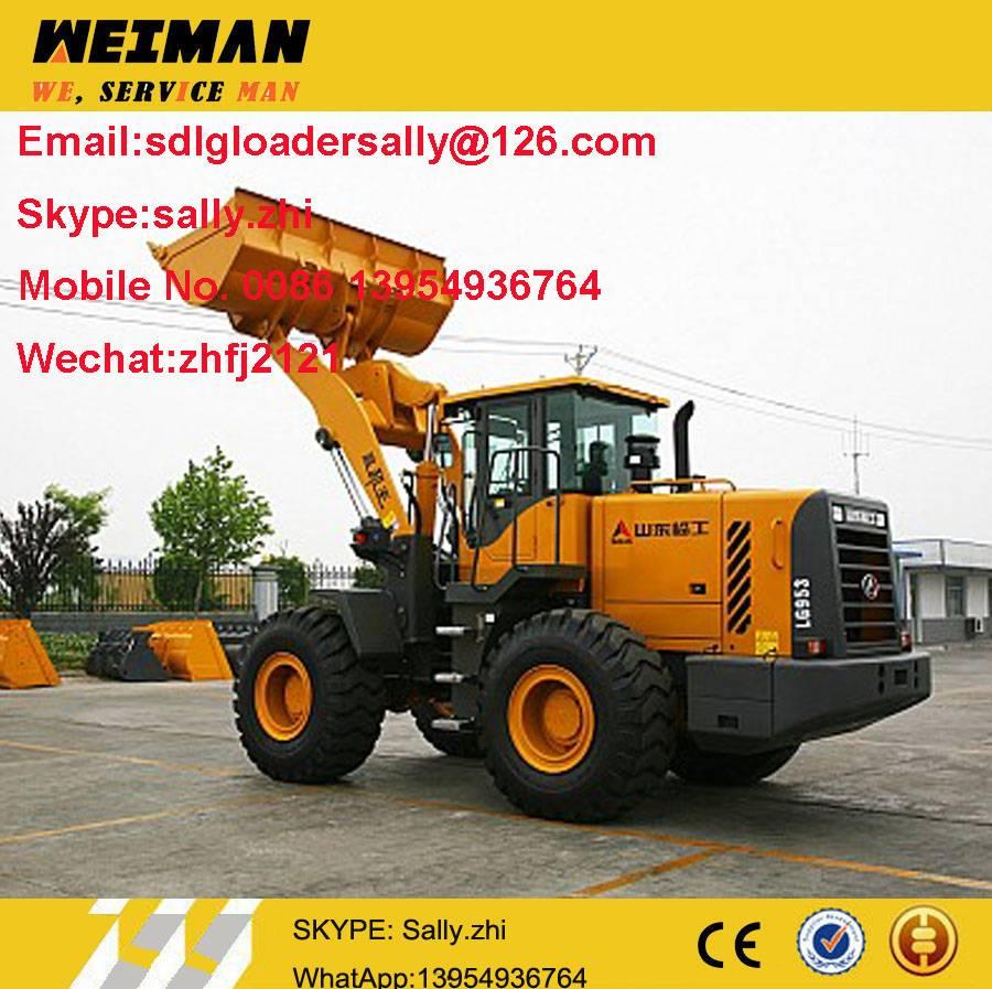 SDLG wheel loader LG953N, Tractor front loader, boom loader
