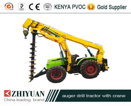 China Leading Brand pole drilling tractor with crane
