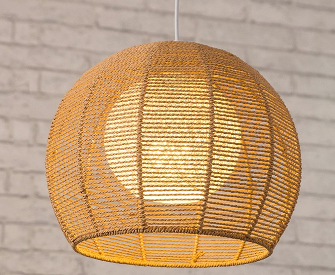 modern hemp rope chandelier pendant lights