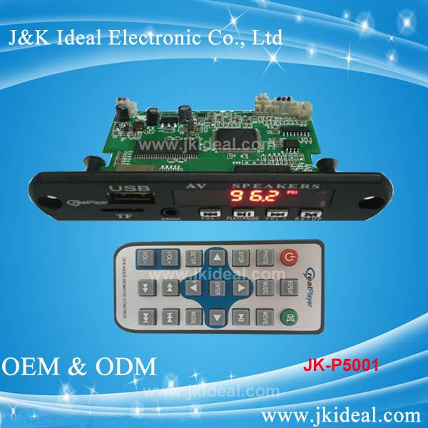 FM radio aux usb tf card mp5 module