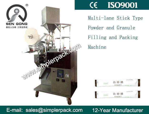 Four Lanes Stick Type Granules and Powder Filling Forming Sealing Machine