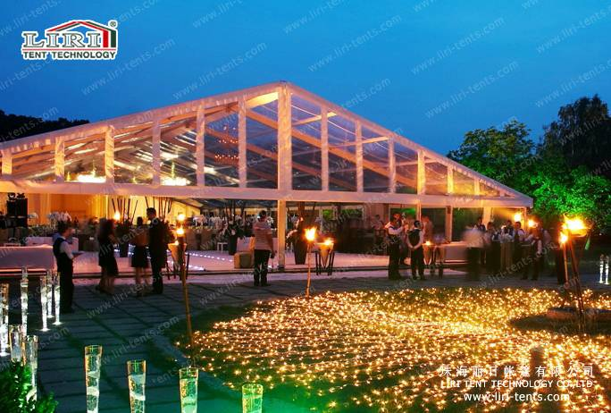 Clear Top Tent Transparent Roof Wedding Reception Marquees