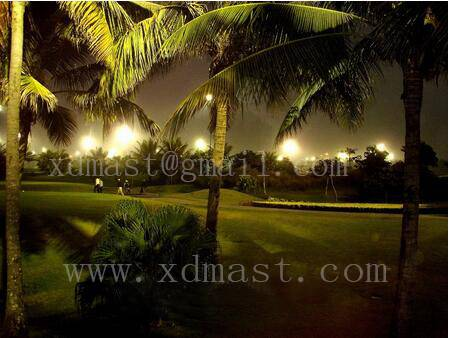 Golf Course lighting Telescopic mast system control