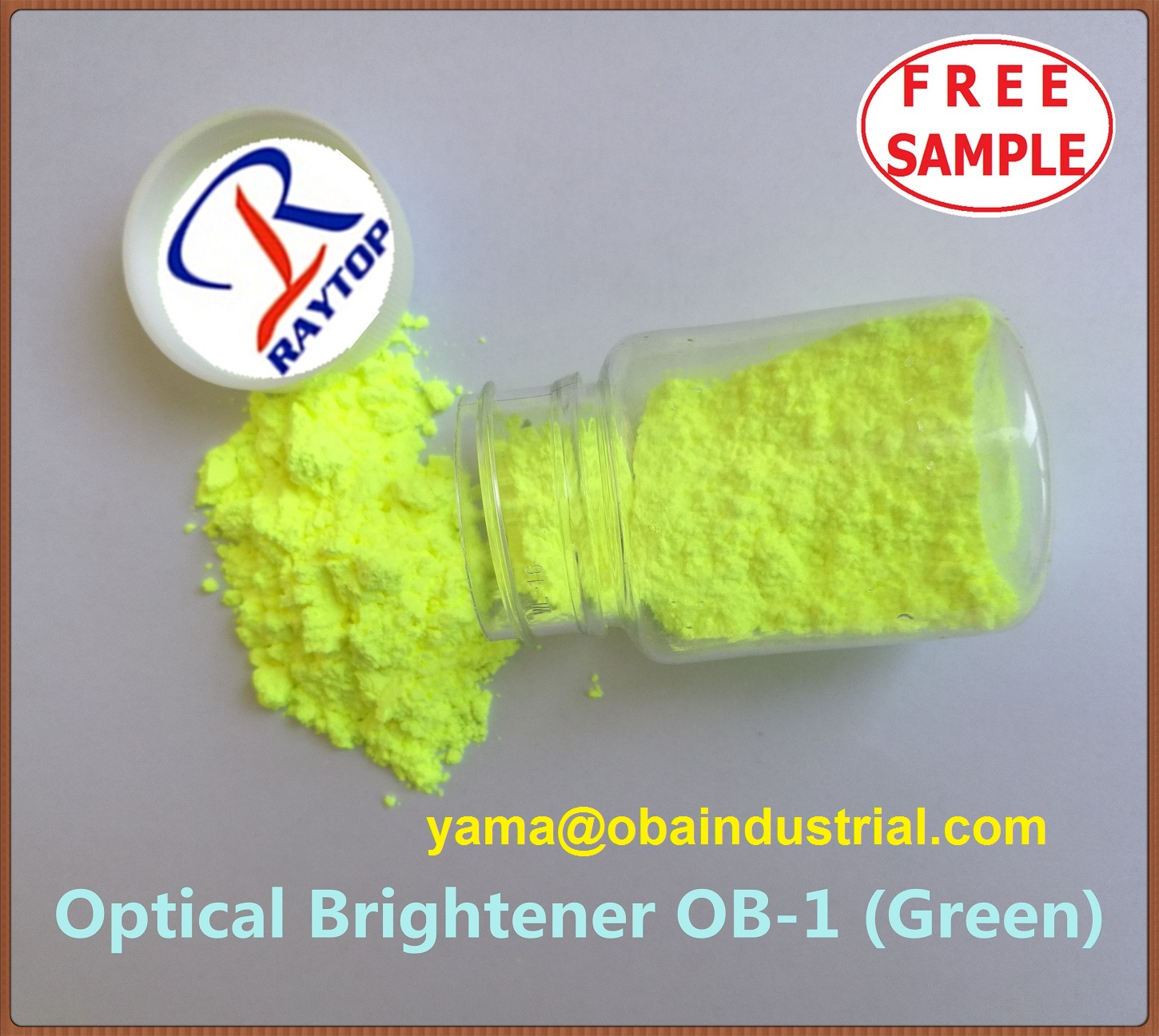 Optical Brightener OB1 Greenish used on the plastic industry