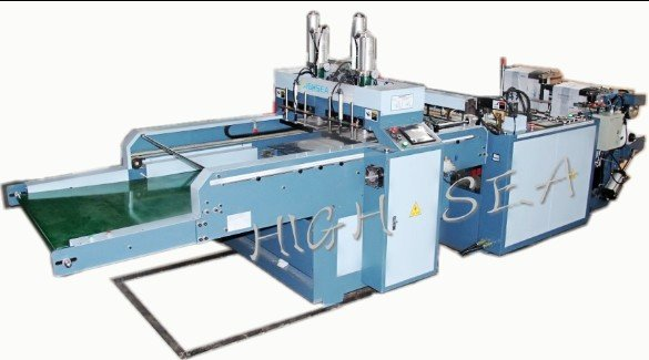 HSGN-450x2 full automatic high speed plastic t shirt shopping bag making machine with epc and feedin
