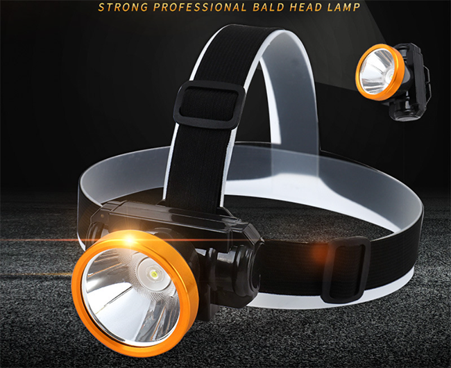 Lithium battery LED outdoor headlight, strong light, super bright, head wearing, rechargeable waterp