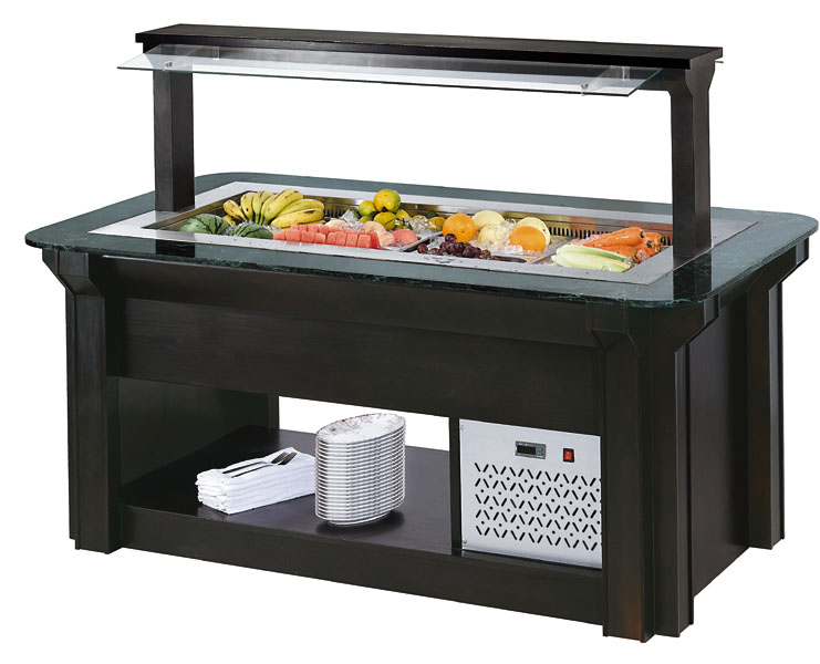 restaurant supplies buffet food salad bar refrigerator