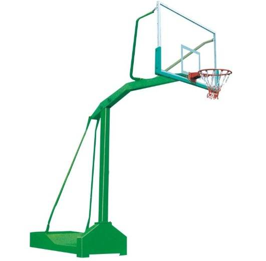 Outdoor height adjustable movable basketball stand
