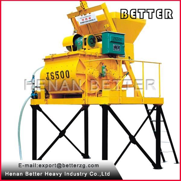 China 500L Discharging Diesel Portable Concrete Mixer With Diesel Engine