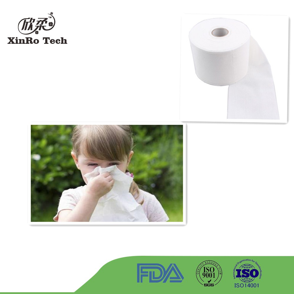 Pure cotton spunlace nonwoven fabric for baby wipe
