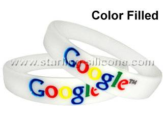 Color Filled Silicone Wristbands /Silicone Bracelets-STARLING