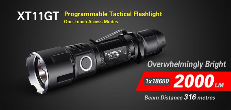 Tactical Flashlight-Klarus XT11GT