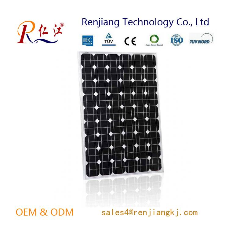 140W Mono Solar Panel High efficiency Made of A-grade Monocrystalline Cells With TUV/IEC/CE/CEC Cert