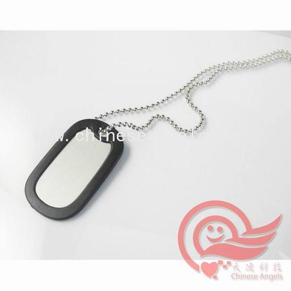 fashion and popular blank aluminum dog tag with silicon cover