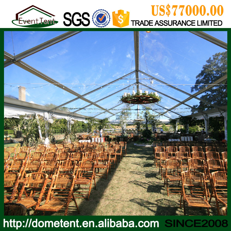 China Suppliers Wholesale Aluminum Frame Clear Roof Wedding Tent