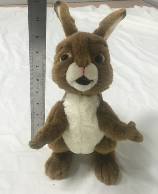 Stuffed animal vertical ear plush rabbit toy with open arm 11 inch