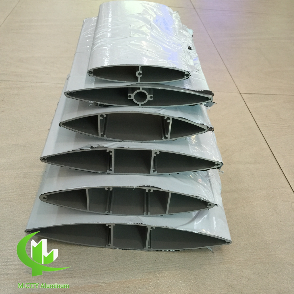 Aluminum extruded louver profile 100mm, 150mm 200mm