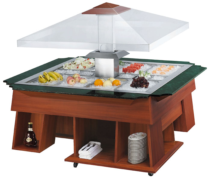 146514651760MM display salad bar stainless steel electric salad bar