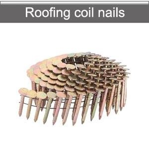 Coil roofing nails