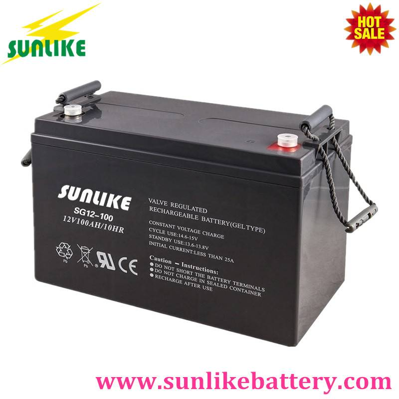 Deep Cycle Solar Gel Battery 12V120ah for off-Grid Power System