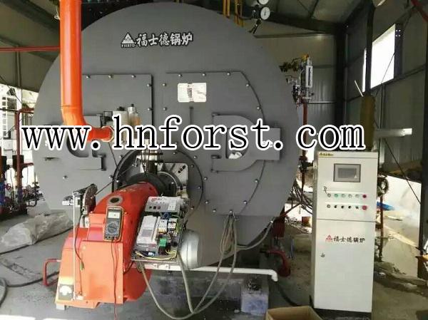 Horizontal fire tube 10 ton natural gas boiler