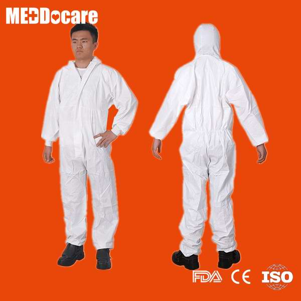 disposable white painter protective coverall