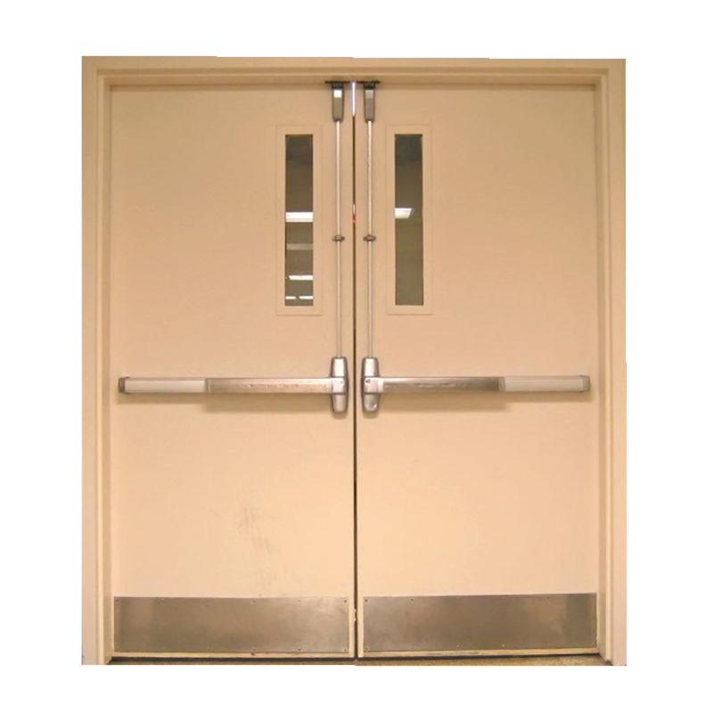 Swing type galvanized steel fire door