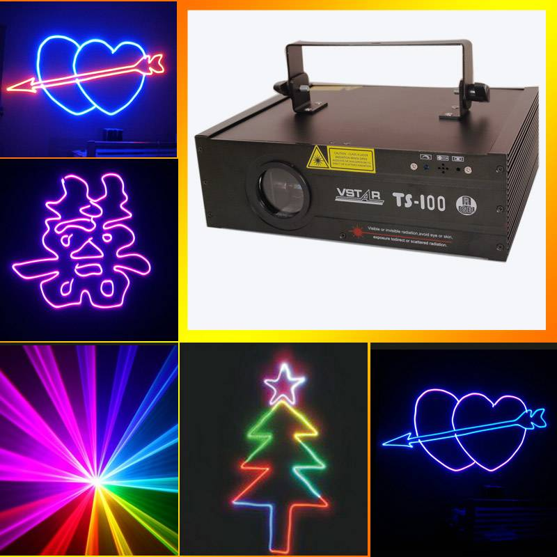TS-100RGB full color laser light with SD card stage lighting equipment with good quality free shippi