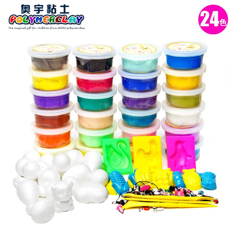 24 colors DIY Eco-friendly DIY super soft light toy modeling clay