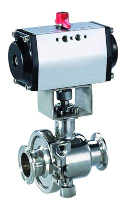 stainless steel sanitary pneumatic ball valve