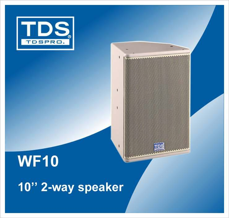 10inch Two-way Full Range Speaker With High Quality Compression Driver (WF10)