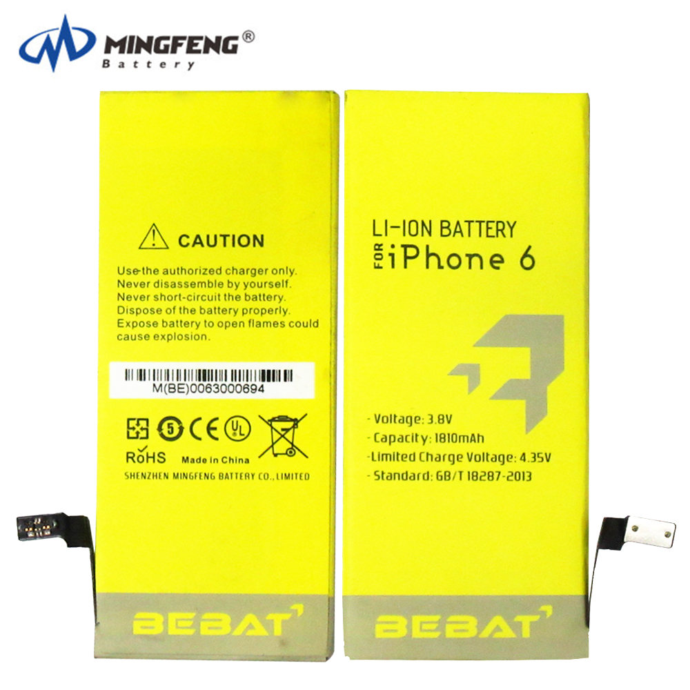 OEM cell phone battery for iphone 6s plus battery high capacity 3.82V 2750mAh