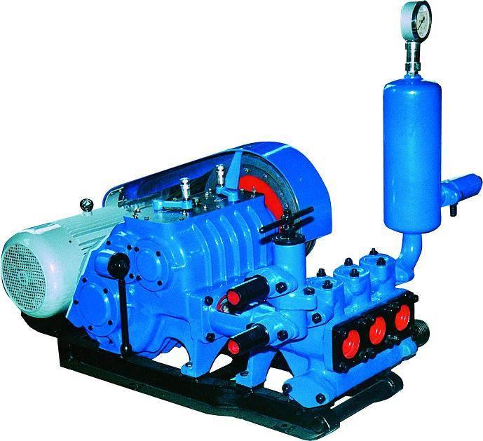 BW-250 triplex Mud pump slurry pump for core drilling with 250L/m displacement diesel engine motor