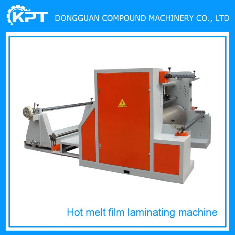easy operational hot melt adhesive film laminating machine