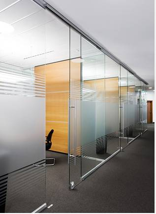 Single glass transparent glass tempered glass office meeting room dividers