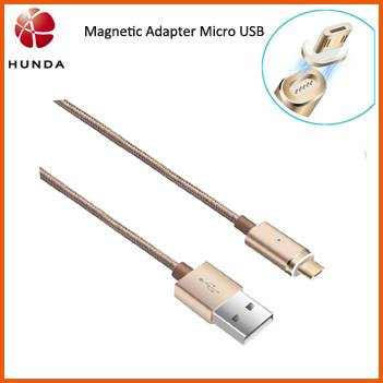 3ft Nylon Braided Magnetic Adapter Micro USB Charging Cable for Android Mobile Tablet PC