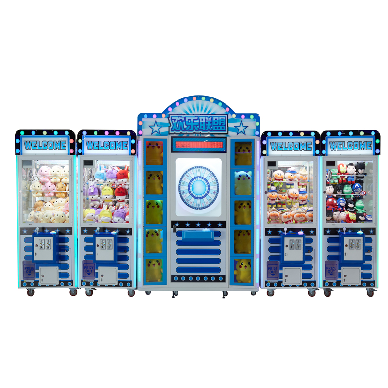 Hot selling cheap 4 players maximum tune toy crane claw arcade game machine