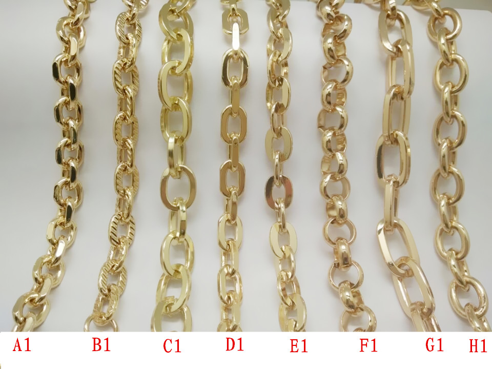Gold Metal Bag Strap Chain For Handbag handle Purse chain
