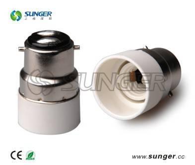 B22 to E14 lamp base adapter