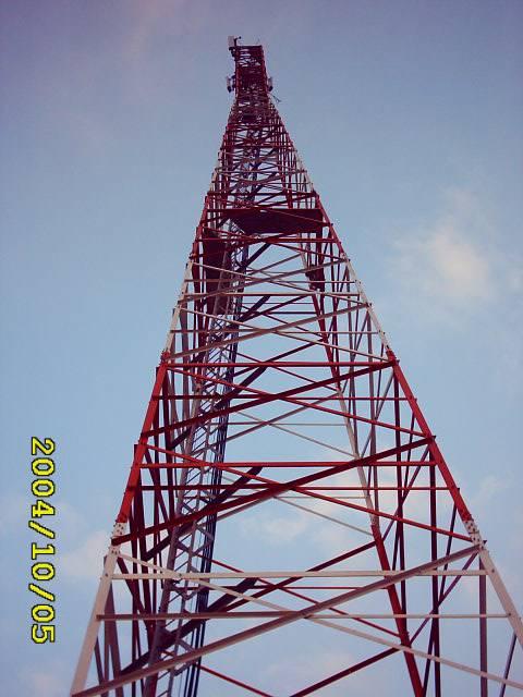 70meter telecommunication lattice steel tower
