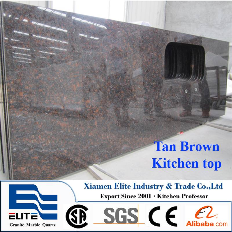 Tan Brown Granite Prefab Countertop